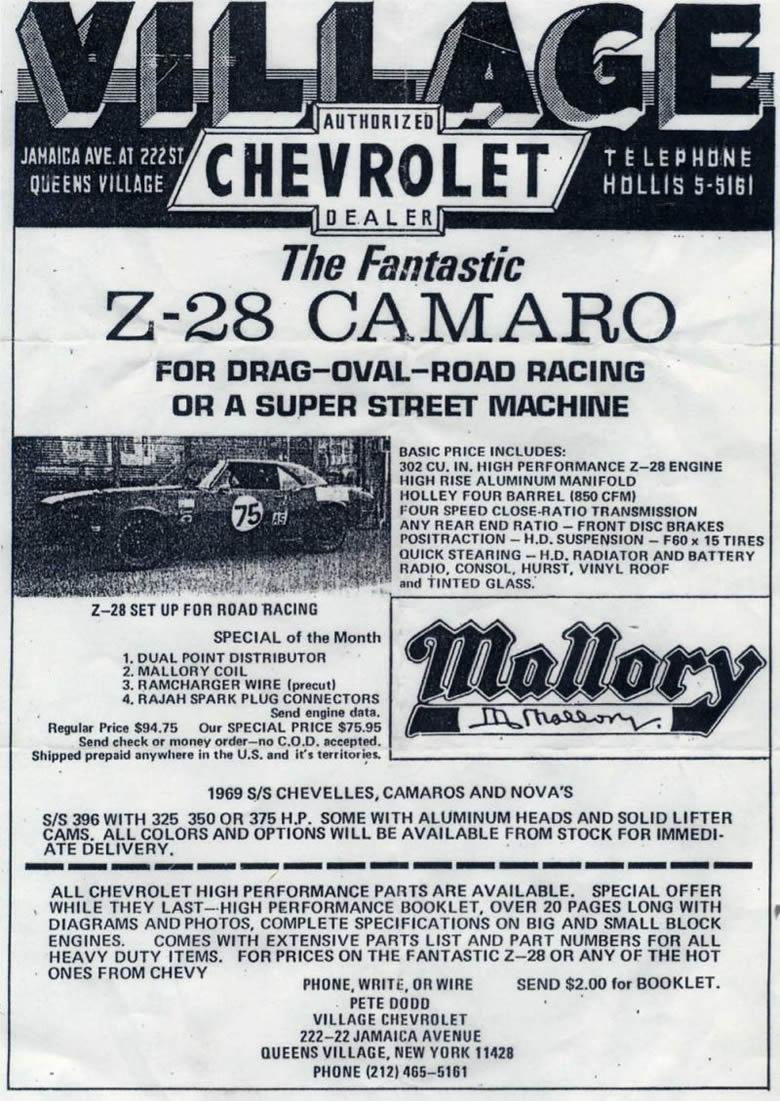 67 Z/28 Engine